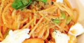 枝豆とモッツァレラのエビクリームパスタ